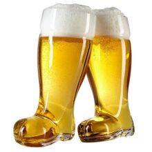 Juego de vasos de cerveza de 2 litros - Botas de cerveza Oktoberfest - Juego de 2 - MyGift®