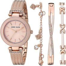 Anne Klein AK/3394 - Conjunto de reloj y pulsera para mujer con cristales de Swarovski