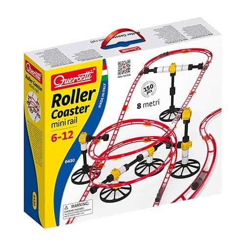 Quercetti Skyrail Mini Rail Rollercoaster–150pc mármol Run con 26pies de Pista–construcción Divertido incorpora principios de la física (Fabricado en Italia)