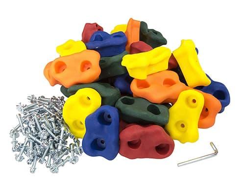 Squirrel Products 20 Soportes Grandes para Escalada de Roca, con Accesorios de Montaje para instalación de hasta 2,5 cm