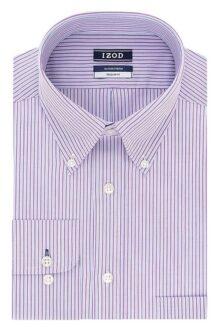 Izod Camisa de Vestir Regular Fit Stretch Stripe Camisa de Vestir para Hombre
