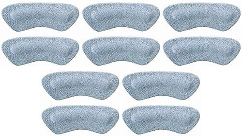 Pedag STOP - Sujeción de tacón de piel de ante suave fabricada en Alemania, fuerte autoadhesivo a base de agua, evita rozaduras y ampollas, hace que cualquier zapato se ajuste perfectamente - Unisex y talla única, 5 pares, Gris, Five Pair