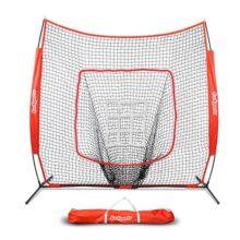 GoSports - Red de béisbol y Softball de 7 pies x 7 pies con Marco de Lazo, Bolsa de Transporte y Zona de golpeo de Bono, Ideal para Todos los Niveles de Habilidad
