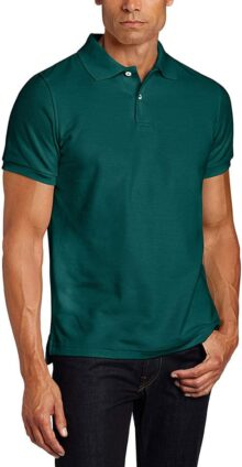 Lee Uniforms Men's Short Sleeve Uniforms Polo, Hunter Green, Medium
