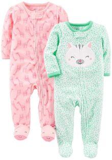 Simple Joys by Carter's Baby Girls' 2-Pack de Forro Polar para Dormir y Jugar