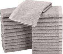 AmazonBasics - Paños de algodón (30 x 30 cm), paquete de 24 - Gris