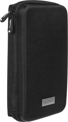 AmazonBasics Estuche universal para dispositivos electrónicos pequeños y accesorios, color negro