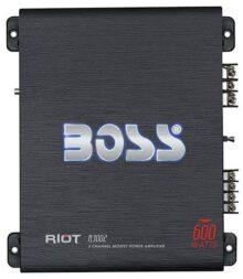 Boss Audio Systems R3002 2.0 Coche Alámbrico Negro - Amplificador de audio (2.0 canales, 600 W, A/B, 0,01%, 102 dB, 125 W)