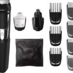 Philips MG3750/60 Rasuradora Recargable (Negro, Metálico, 60 min, Integrado, AC/batería, 1 h, Ión de litio)