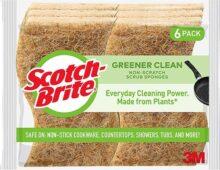 Scotch-Brite - Esponjas limpias y antiarañazos, hechas de plantas, 6 esponjas para fregar