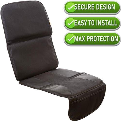 Zohzo - Protector / cojines de asiento de coche, máximo acolchado para niños y bebés, se asegura con correas superiores, bolsillos de almacenamiento