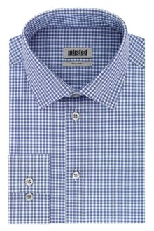 Kenneth Cole Camisa de Vestir Regular Fit Check Camisa de Vestir para Hombre
