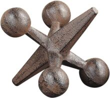 Creative Co-op CG4322 Retro Decorative Cast Iron Jack, Rust