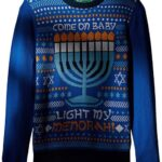 Ugly Christmas Sweater Company My Menorah suéter Ligero para Hombre